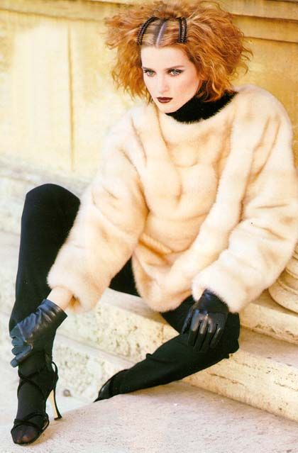 fur and gloves