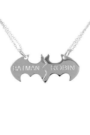 Batman & Robin Best Friends Necklace