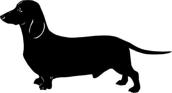 dachshund silhouette clip art doxie pinterest vinyl wiener dog birthday clipart weiner dog clipart images