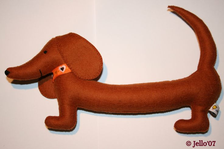 The Jello stuffed toy Dachshund by jello07 on Etsy https://www.etsy.com/listing/112491468/the-jello-stuffed-toy-dachshund