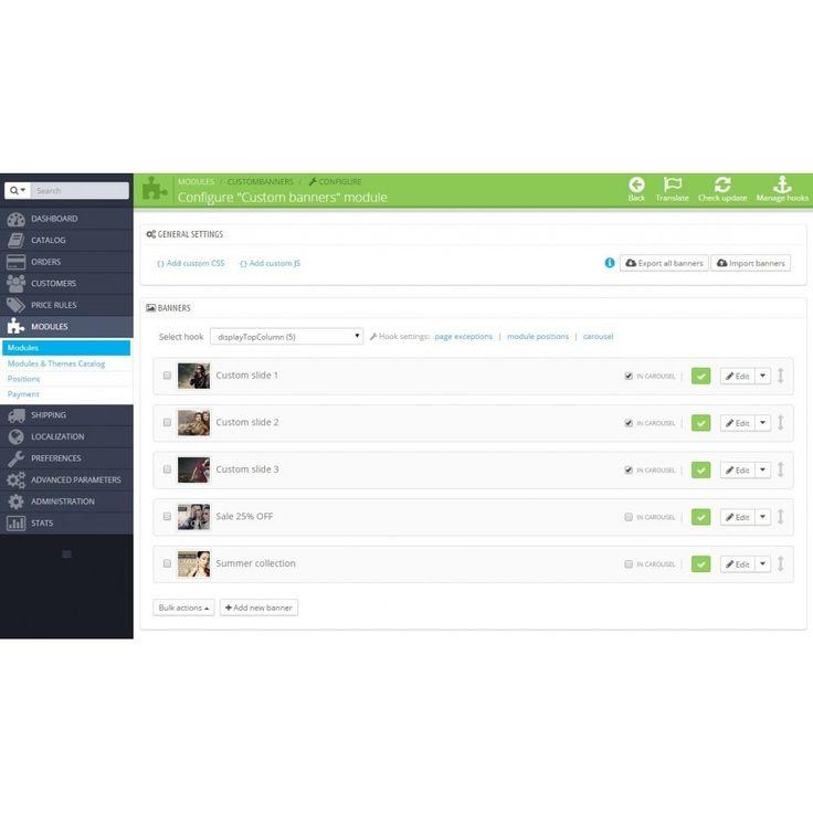 module - Функции фронт-офиса - Custom banners and HTML content - 2