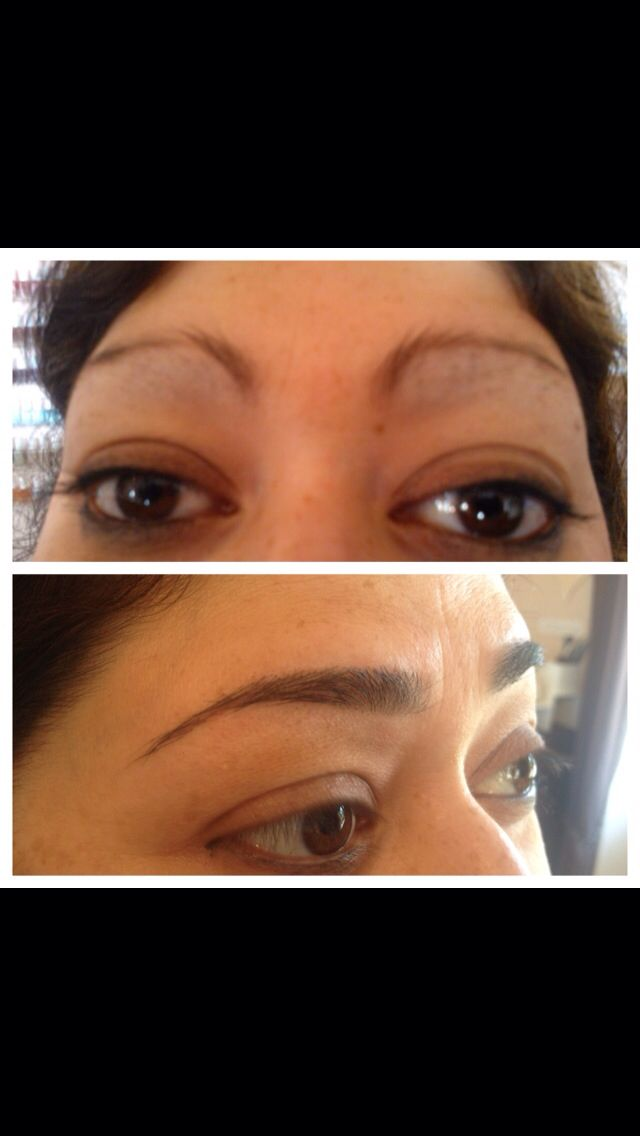 Before and after 3 month regrowth programme. HD brows by hayley at cherish