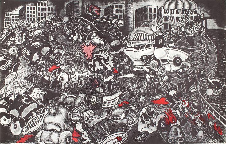 "Lars Hillersberg, ""The war between people and cars"", 1971"
