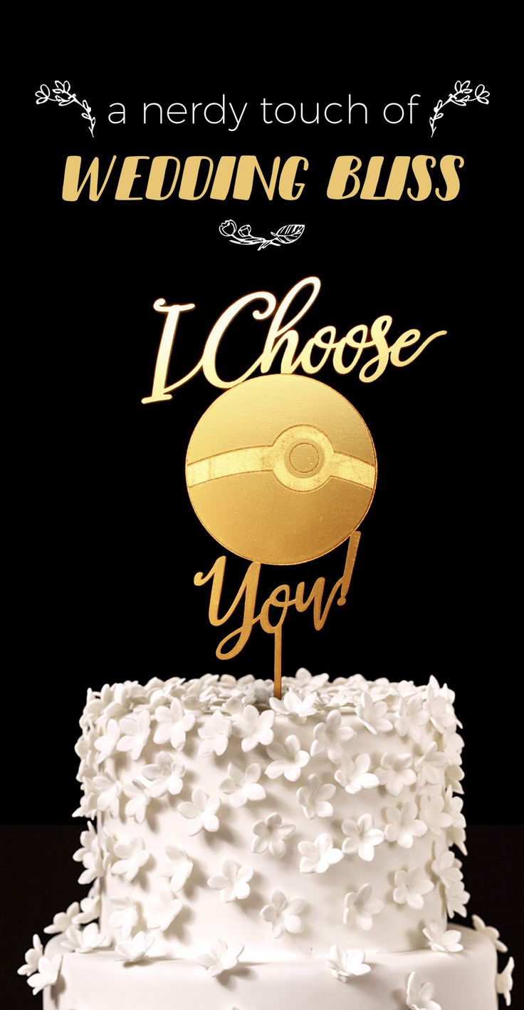 Pokemon Wedding Cake Topper, I choose you!
