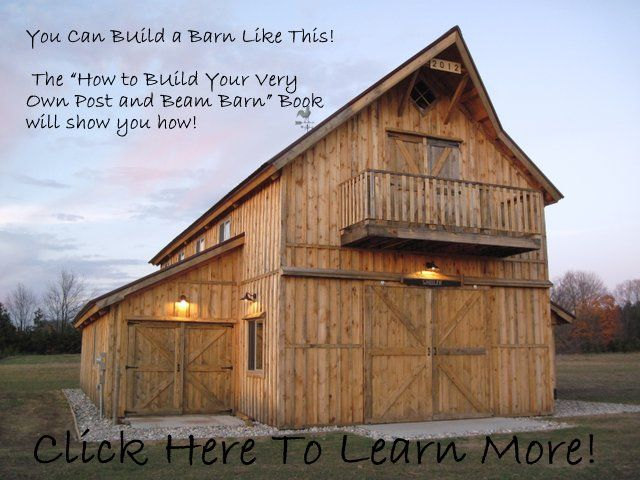 I want this! VIA:The How to Build a Barn, Shed, or Garage Book by The Barn Geek.
