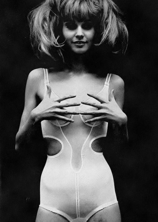 Photo by Helmut Newton for Vogue UK, April 1965.