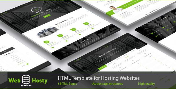 WebHosty - Hosting HTML Template . Images shown in demo are not included with the