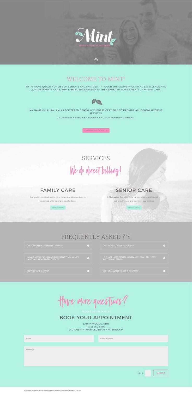 Responsive Dental website design - Design by Nickels & Linc Inc.