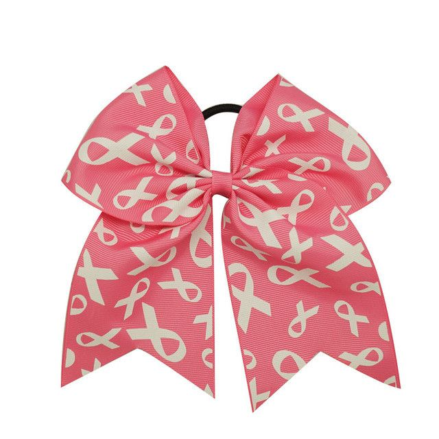 Big Pink Breast Cancer Awareness Cheer Bows For Women Handmade