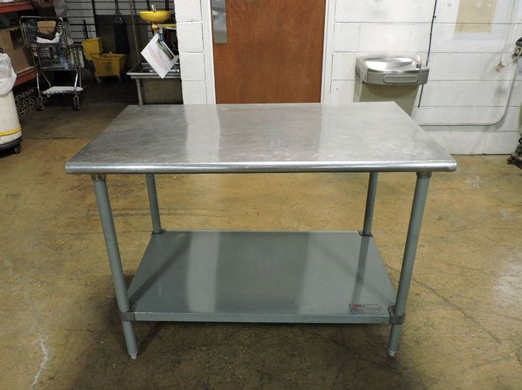 """Eagle Group Commercial Stainless Steel Work Table with Undershelf - 48"""" x 30"""" #EagleGroup"""