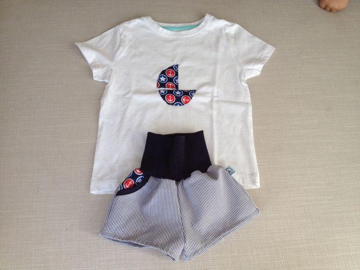 Hosen - Traum-Set im maritim Look fürs Baby - ein Designerstück von Petitpirate-ch bei DaWanda