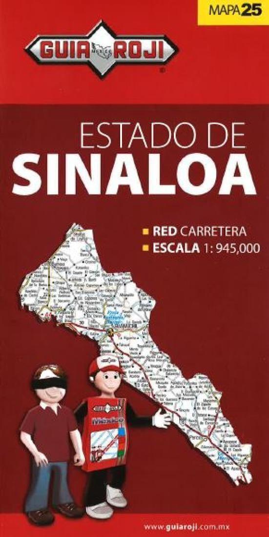 Sinaloa, Mexico, State Map by Guia Roji