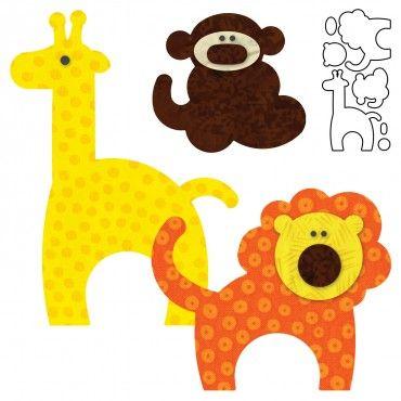 "ACCUQUILT GO  ""ZOO ANIMALS"": Zoos Animal, Sewing, Apply Patterns, Accuquilt, Zoo Animals, Animal Appliques Pattern, Aplique Animal, Baby Shower, Crafts"