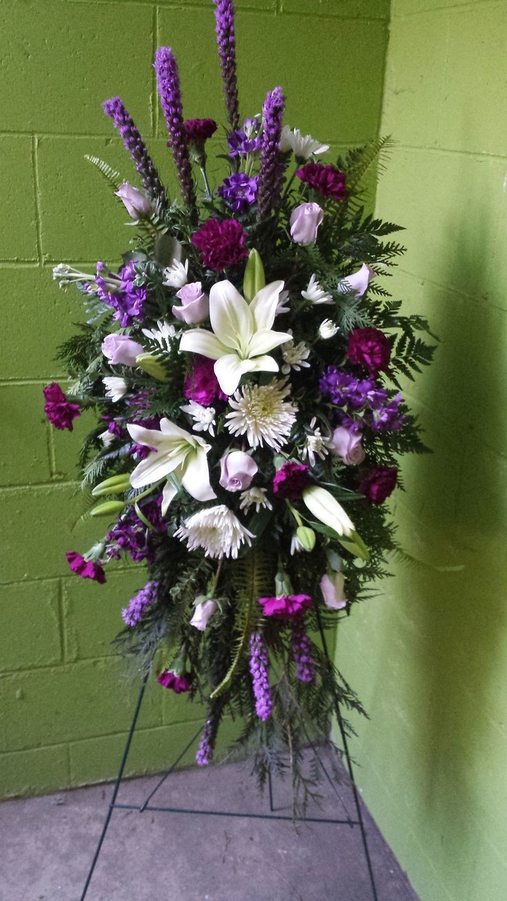Check out this #beautiful #floral arrangement: Always Adored Standing Spray | The Rose Shop | Utah Full Service Florist | Sympathy Flowers | Funeral | Standing Sprays #theroseshop #roseshopflowers #sympathy