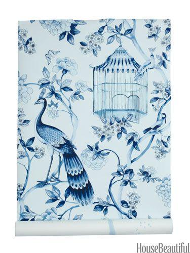 Oiseaux et Fleurs wallpaper by Schumacher.  www.wilburandgussie.com