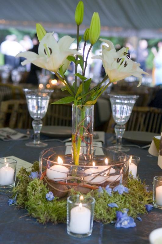 Small Taller Vase Inside Short Larger Vase With Flowers. Great Wedding Ideas  #koyal @