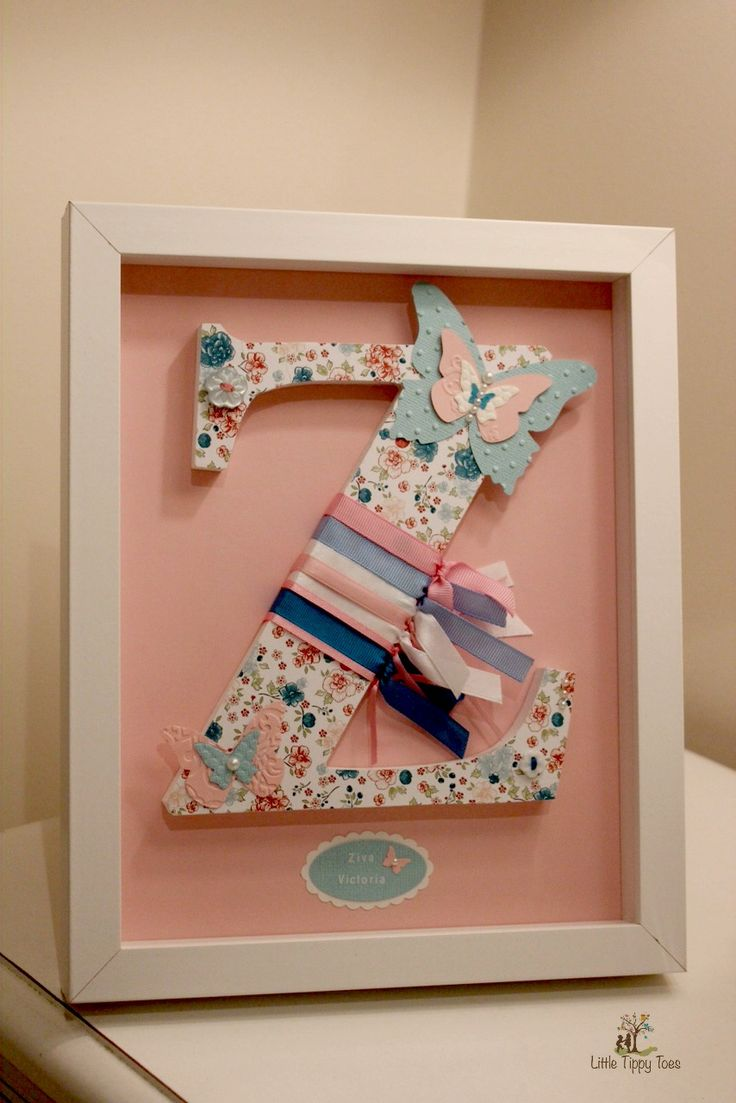 "Personalised Letter Frames will add a special touch to any child's nursery of bedroom. Perfect as a unique gift for Newborns, Christenings, Birthdays & Keepsakes. Every letter is meticulously handmade with passion, love and a sense of artistry, thus giving it that extra ""wow"" factor. Visit our website for for info."