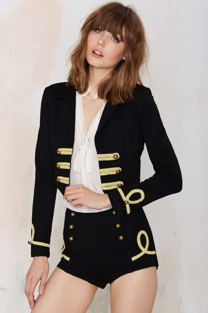 Nasty Gal Bandcamp Crop Jacket - Best Sellers | Back In Stock | Blazers + Capes | Jackets + Coats | Jackets + Coats