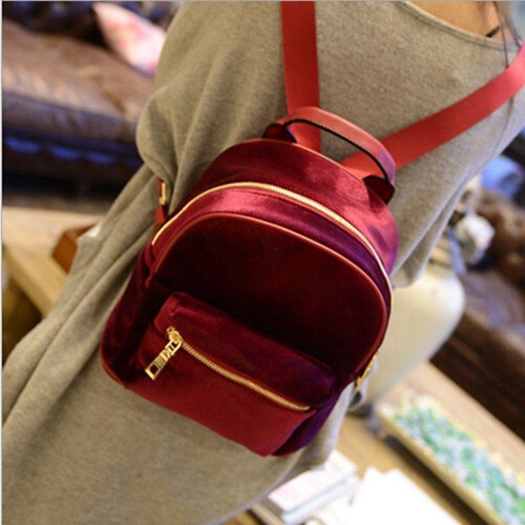 Бархатный рюкзак    Купить: http://ali.pub/0z4qk  Цена: 520 рублей