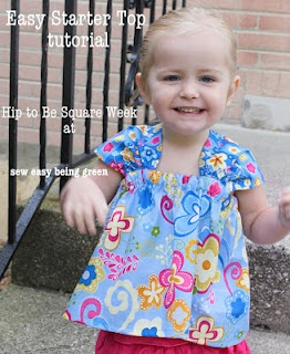 cute as can be/alternative to pillowcase dress/ idea for maternity top: Dresses Tutorials, Tops Tutorials, Squares, Green, Starters Tops, Maternity Tops, Sewing Easy, Summer Tops, Easy Starters
