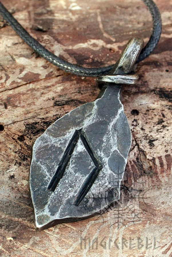 The u-rune name means Aurochs, a European wild ox which is now extinct. The meanings of the Uruz rune are strength, power, danger, wildness, potential, health, healing and virility. The energy of Uruz is the masculine life-force, striving to overcome all obstacles and survive all dangers.   #magicrebel #forged #iron #uruz #ur #uram #rune #viking #amulet #runic #nordic #pendant #talisman #necklace