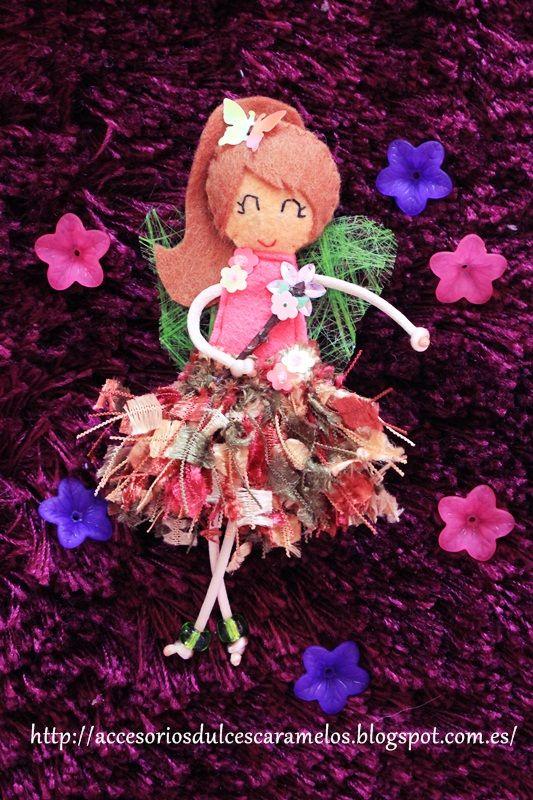 Doll Felt Spring Fairy / Hada de Primavera http://accesoriosdulcescaramelos.blogspot.com.es/2014/03/hadas-natura-coleccion-2014.html