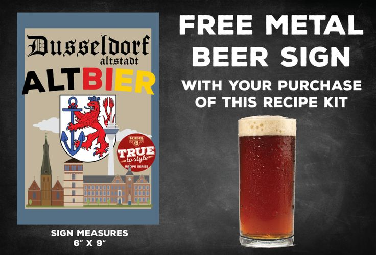 Free Metal Sign w/Dusseldorf Altbier Kit Purchase + Three Great Keg Deals #homebrew