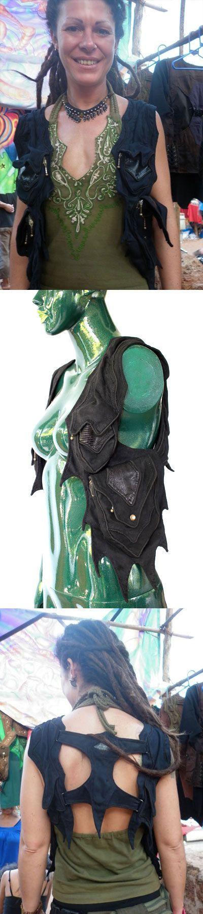 burning man festival fashion playa wear Goa style holster apocalypse women