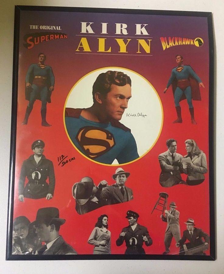 Kirk Alyn The Original Superman & Blackhawk Signed Poster 112/500 (1997)