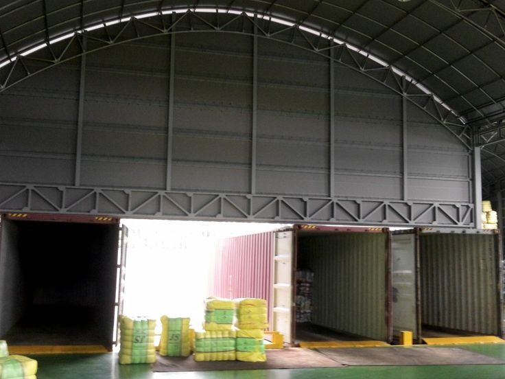 This is JS trading`s Container dock, as seen in this photo, it is by far the most modernized where used clothing bales can be loaded safely and quickly.