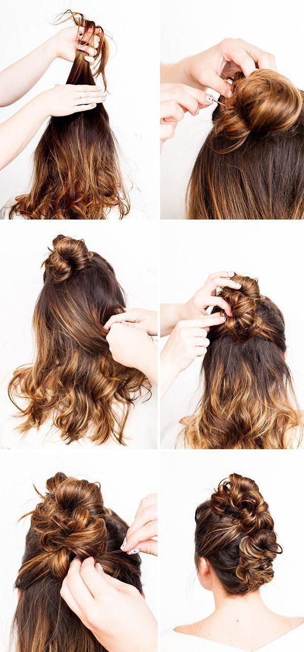 Hair Brained: Go from Day to Night with this Messy Bun Faux Hawk (2 Ways) #hairtutorial #updo #messyBraided