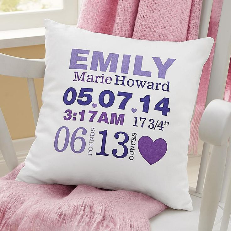 Celebrate your new arrival with a colorful accent for baby's room, featuring every important detail of their birth.