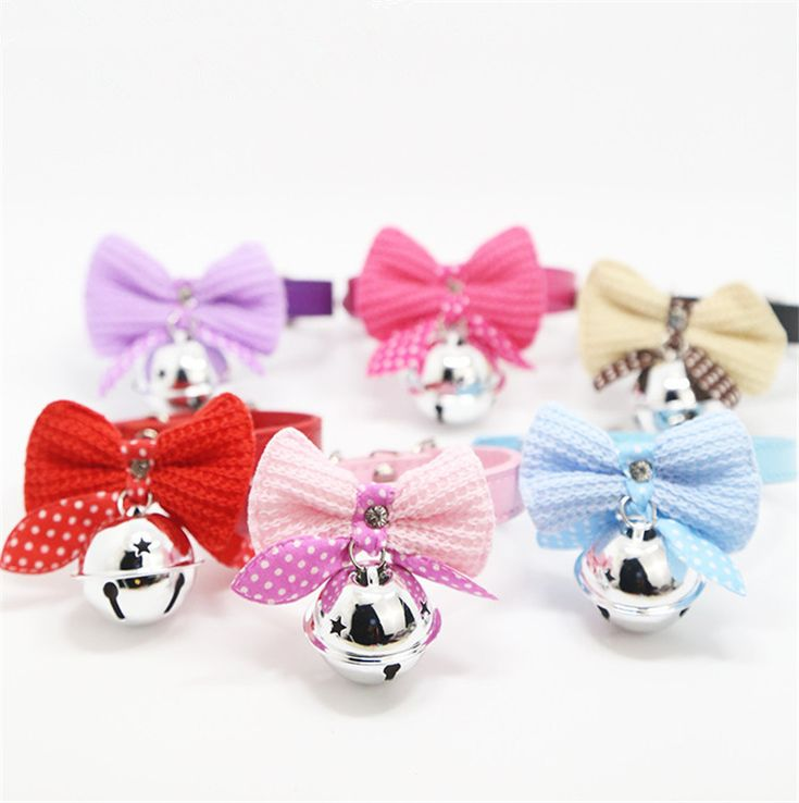 1Pc Pet Dog Cat Pet Collar Cute Bow Tie Puppy Kitten Collars with Small Bell Puppy Necklace Pet Accessories Supplies. Yesterday's price: US $4.57 (3.77 EUR). Today's price: US $3.56 (2.93 EUR). Discount: 22%.