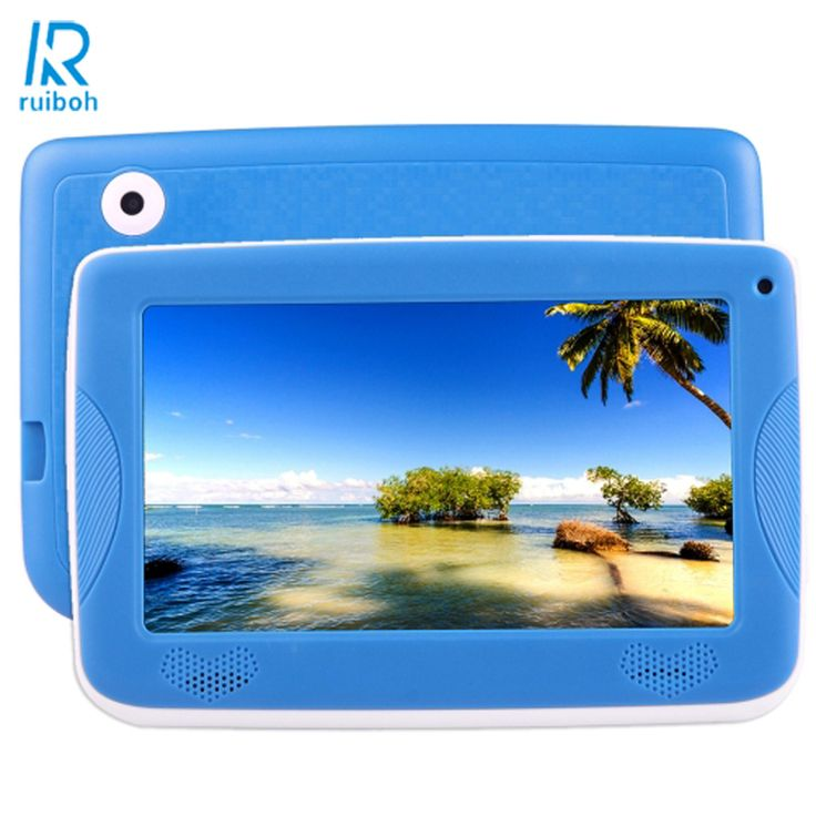 7.0 inch PC Android 4.4  Astar Kids Education Tablet PC,  512MB di Ram; 8GB Rom Allwinner A33 Quad Core, with Silicone Case(Blue #Affiliate