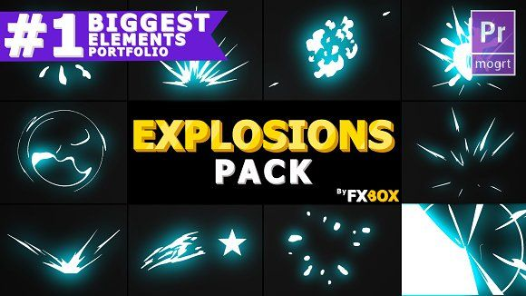 Cartoon Explosions Premiere Pro Web Design After Effects Projects Logo Reveal