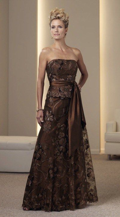 1000 images about bridesmaid dresses on pinterest fall for Brown lace wedding dress