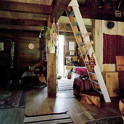 .: Ladder, Dreams Home, Dreams Houses, The Loft, Wood, Handmade Home, Places, Bohemian, Cabins Interiors