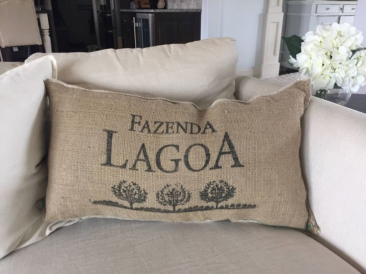 Farmhouse Burlap Couch/Bed Pillow Case, Coffee Jute Sack, Feed Sack, 15x27 Farmhouse Pillow, Rustic Bed Pillows, Vintage Pillow by EclecticHomeMarket on Etsy https://www.etsy.com/listing/511796590/farmhouse-burlap-couchbed-pillow-case