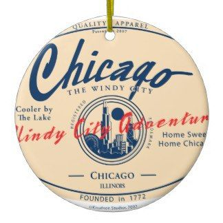 Chicago Christmas Ornament Windy City