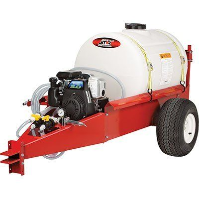 NorthStar Tow-Behind Sprayer - 55 Gallon, 7 GPM, 160cc by NorthStar. $1399.99. 20ft.L reinforced poly vinyl chloride hose makes monitoring the chemical flow simple. Delavan 4 roller, 7 GPM pump with adjustable pressure and dependable 160cc Honda Engine. Sturdy 55 gallon, UV-stabilized tank with extra-thick walls. Boomless nozzles deliver a 32-ft. spray width. No boom arms to store or break. NorthStar Tow-Behind Sprayer is easily towed behind your lawn tractor or ATV on huge...