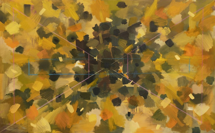 String Structure Oil on canvas 160x120cm 2012    www.ewoudbakker.com for more art and information.