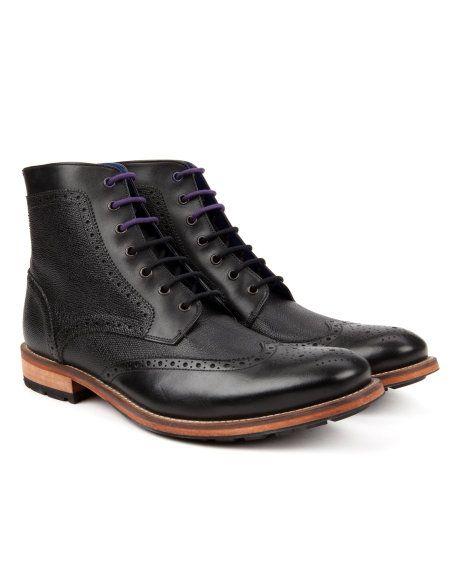 SEALLS2 | Brogue ankle boot - Black | Footwear | Ted Baker