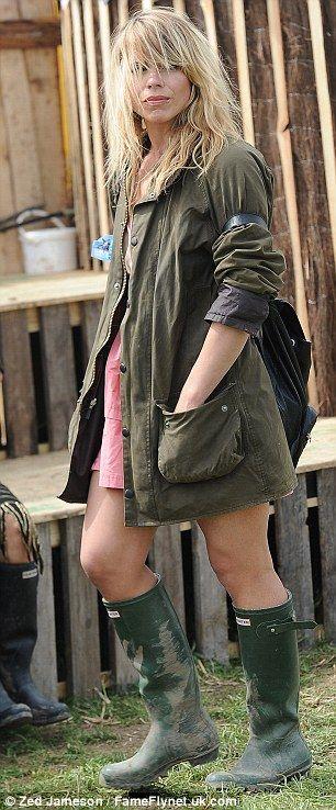 Billie Piper set the fashion standards for the Glastonbury festival
