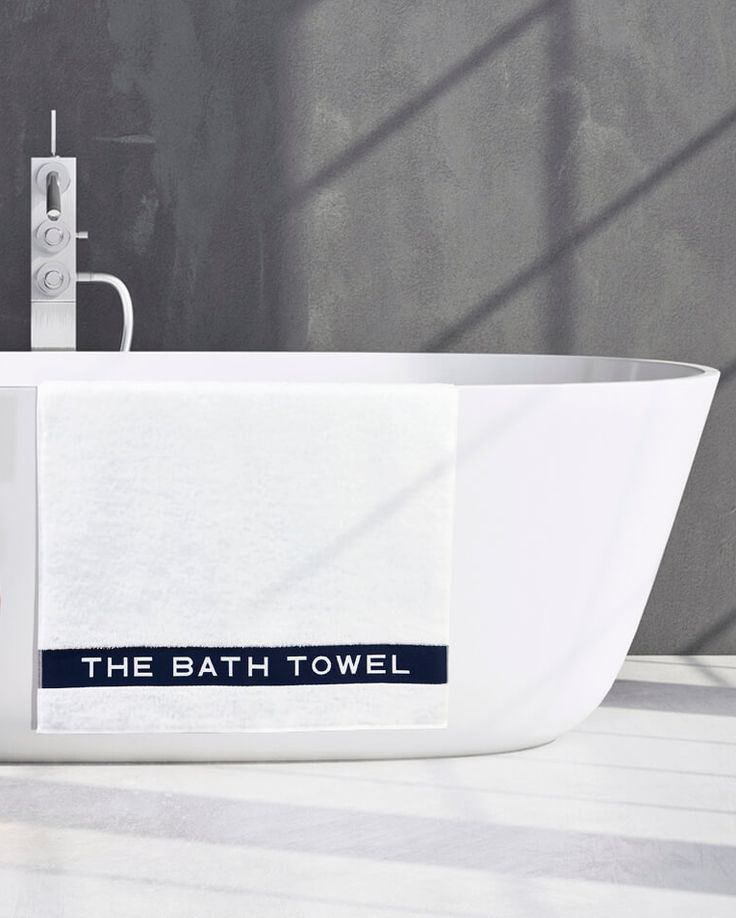 Tub with The Bath Towel by Cottera #keepondrying