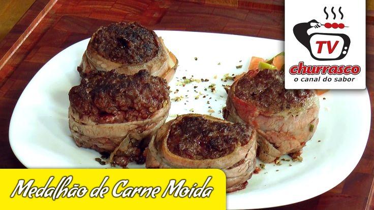 Receita de Medalhão de Carne Moída - Tv Churrasco