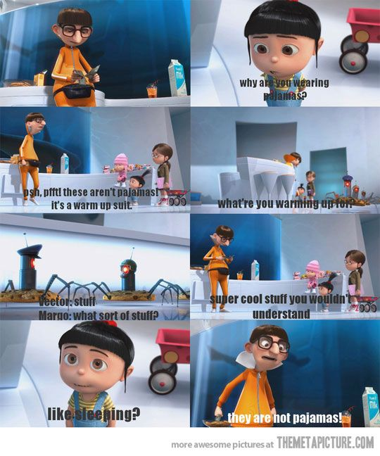 My kids quoted this constantly after seeing Despicable Me...and of course the 'It's so fluffy I'm gonna die!' part too lol