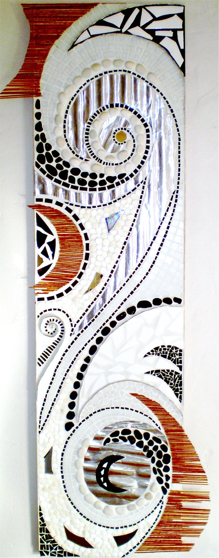 Ebb and Flow, 2009, stone, shell, aluminium, wood and tile 56x200 cm  SOLD