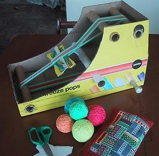 DIY weaving loom.