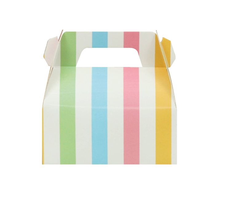 10 Multicolored Striped Gable Boxes, Multi Color Gable Boxes, Multi-color Baptized Gable Boxes, Baby Shower Gable Boxes, Candy Bar Gable Box by MookiPartyShop on Etsy