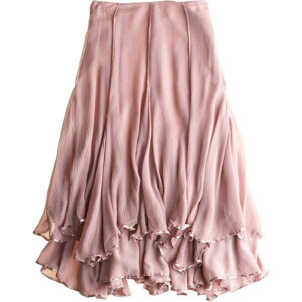 CALYPSO St. Barth Charlie Skirt ($25) ❤ liked on Polyvore featuring skirts, bottoms, pink, saias, flounce skirt, pink frilly skirt, long flounce skirt, layered ruffle skirt and calypso st. barth